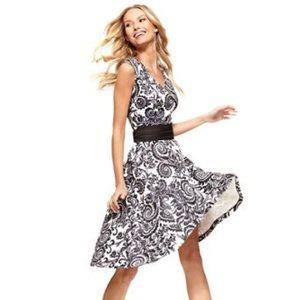 NY&Co Stretch Medium Print Fit & Flare Dress
